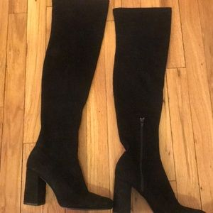 Zara suede over the knee boots